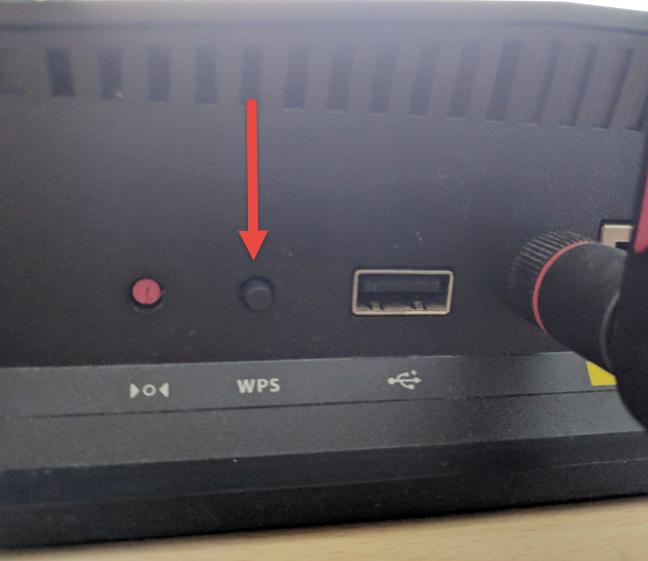 جایگاه دکمه WPS در مودم adsl